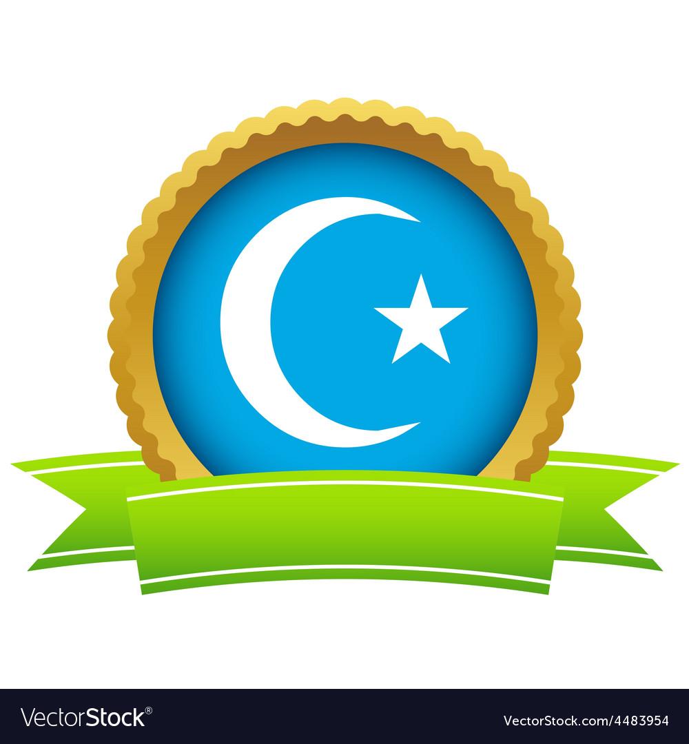 Gold Islam logo.