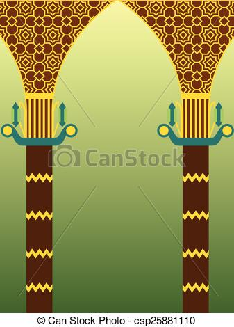 Vector Clip Art of Islamic architecture design.