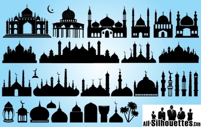 Islamic Prayer Clip Art, Vector Islamic Prayer.