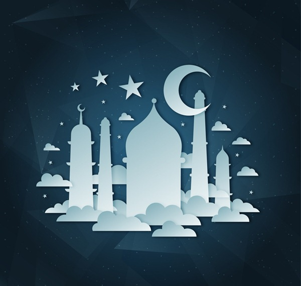 Islamic architecture cloud clip art.