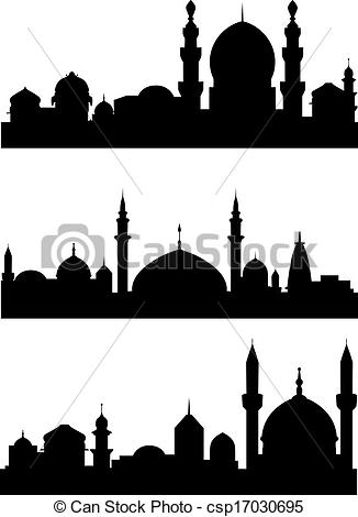 EPS Vectors of Islamic architecture.