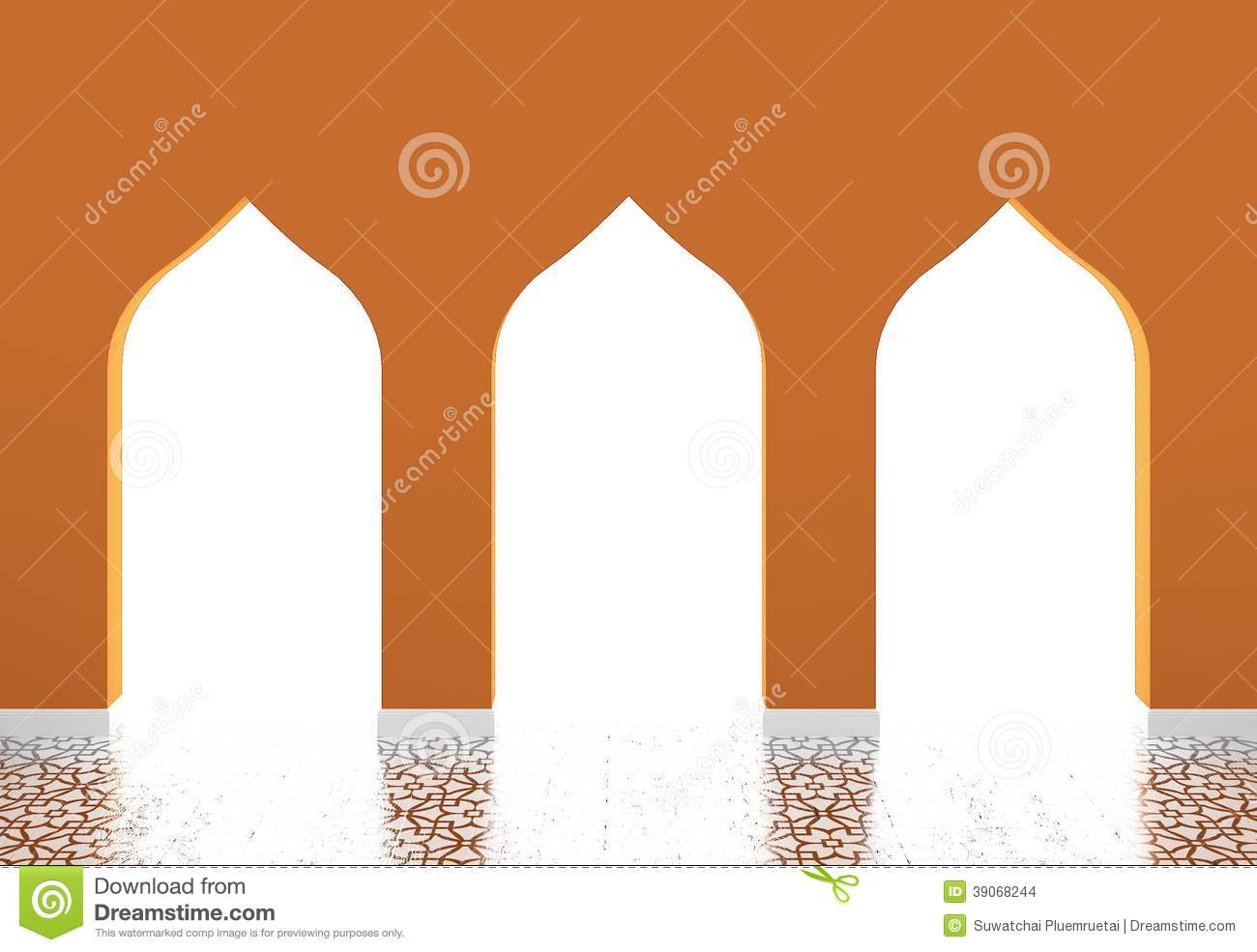 Muslim Style Arches,Islamic Architecture Stock Illustration.