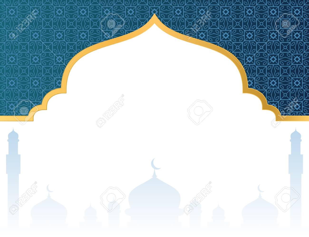 Blank Islamic Background With Mosque Roy #746657.