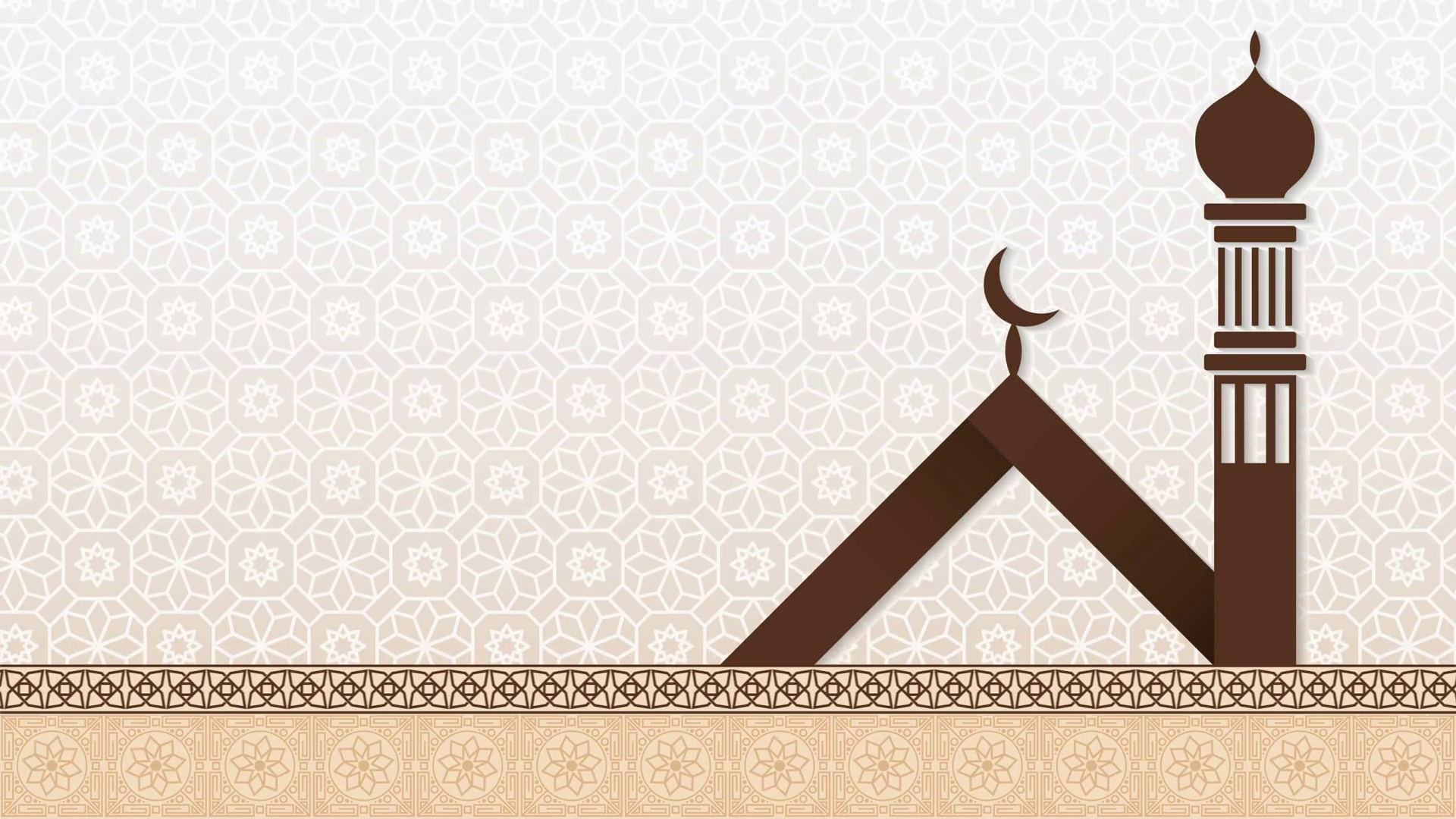 Islamic background with modern mosque silhouette. Looped animation Motion  Background.