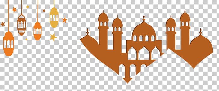 Islam Banner Logo, Brown Islamic church banner, brown mosque.