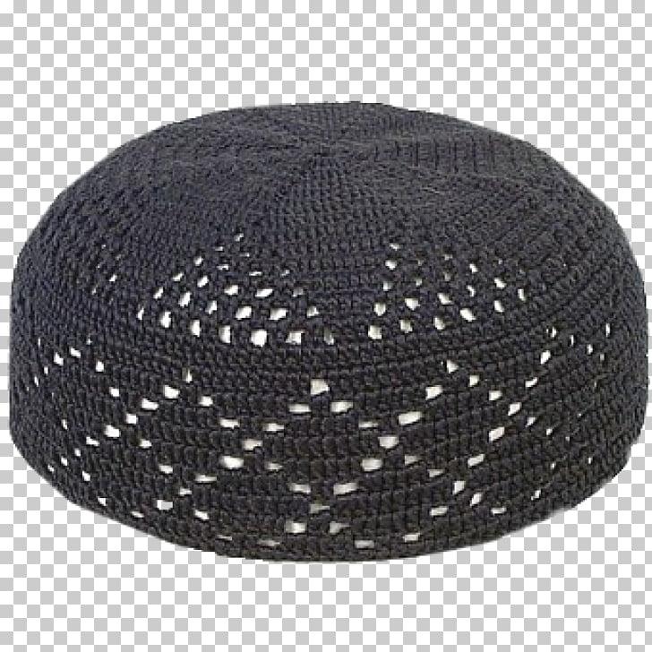 Kufi Taqiyah Hat Cap Crochet, Hat, black crochet taqiyah hat.