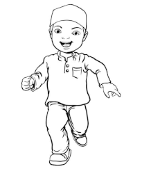 Image result for muslim boy clip art black and white.