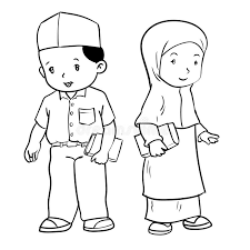 Image result for muslim girl clip art black and white.