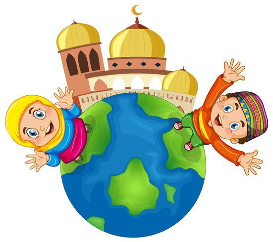 Muslim children at mosque.