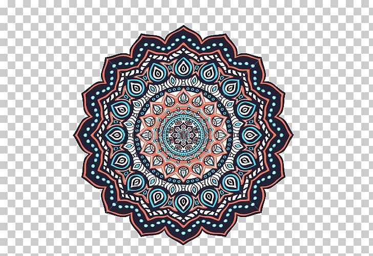 Islam Ornament Mandala Motif, Decorative patterns of Islamic.