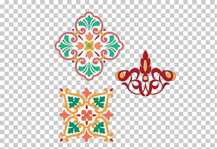 Quran Visual arts Islam Ornament, A group of Islamic.