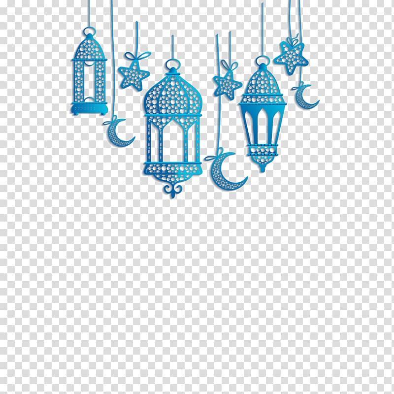 Quran Islam, Islamic lantern decorations, blue hanging decors.