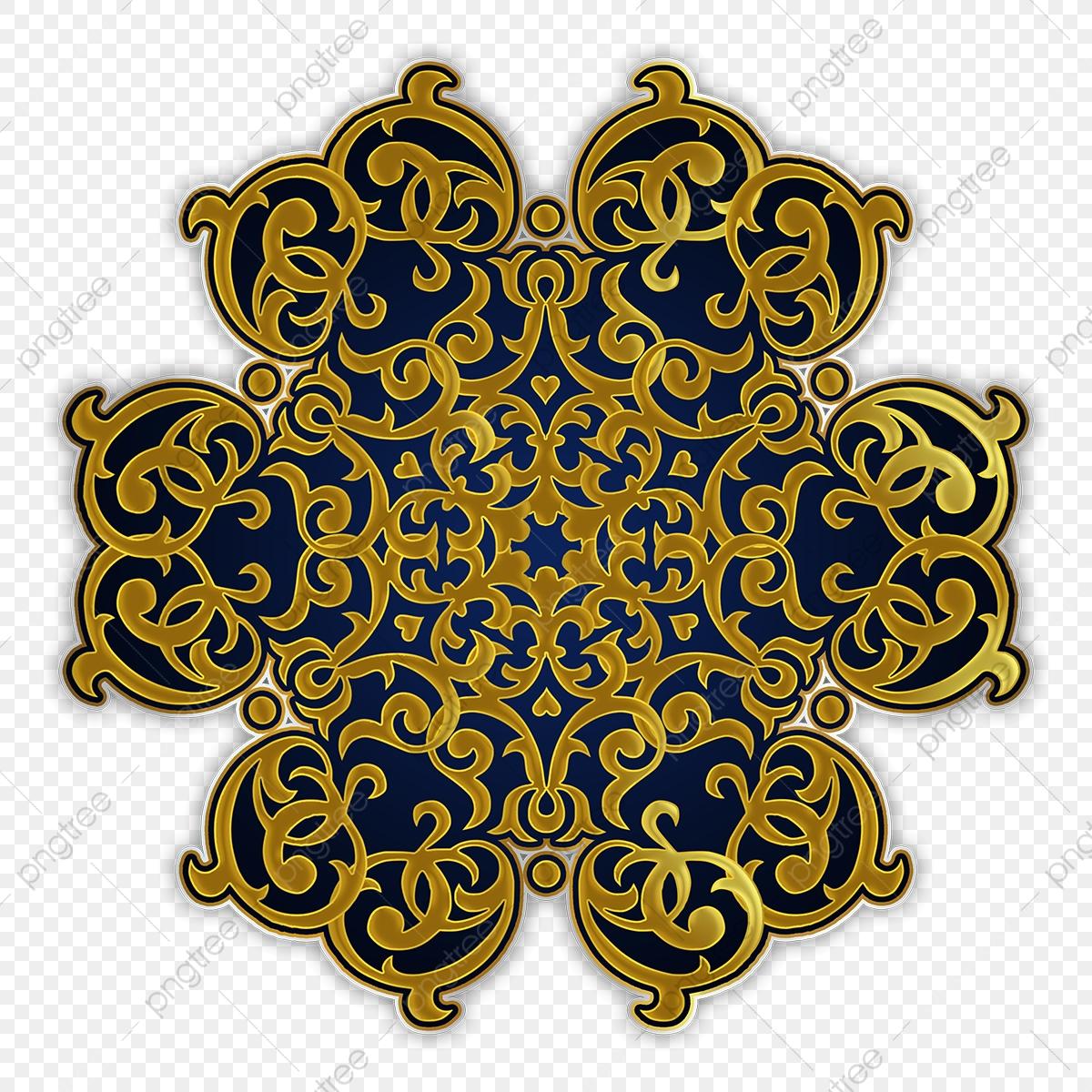 Decorative Golden Islamic Ornament, Islamic, Islamic Decorations.