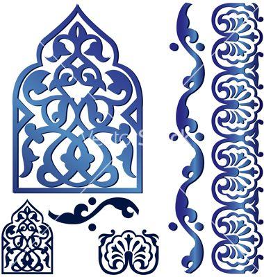 Islamic design elements vector 674096.