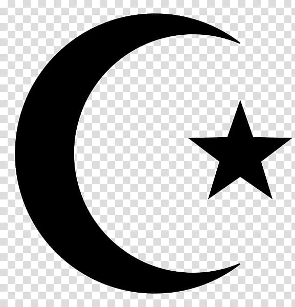 Star and crescent Symbols of Islam Moon, Islam transparent.