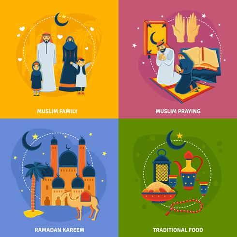 Islam Icons Set.