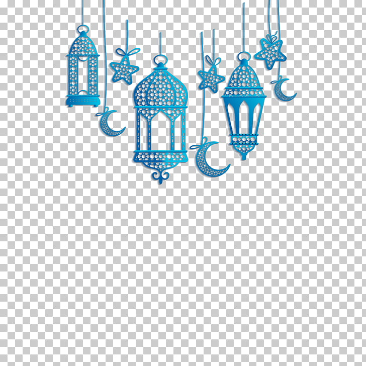 Quran Islam, Islamic lantern decorations, blue hanging.