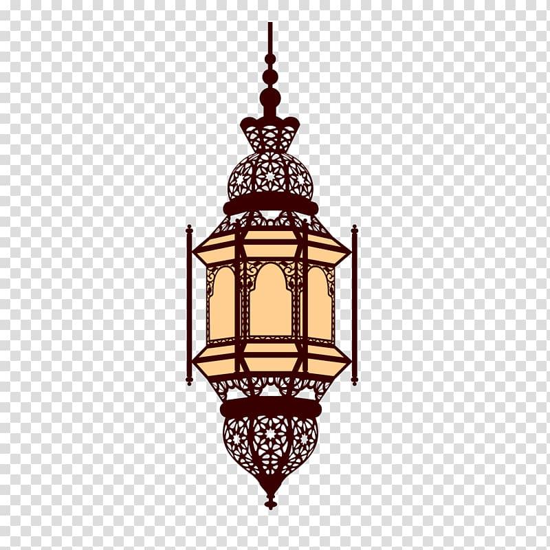 Lantern Arabic , Islamic Ramadan lamp, pendant lamp painting.