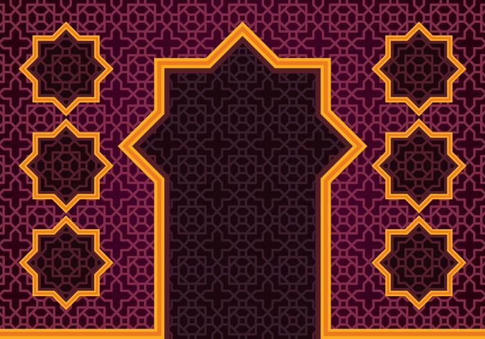 Islamic Border Background.