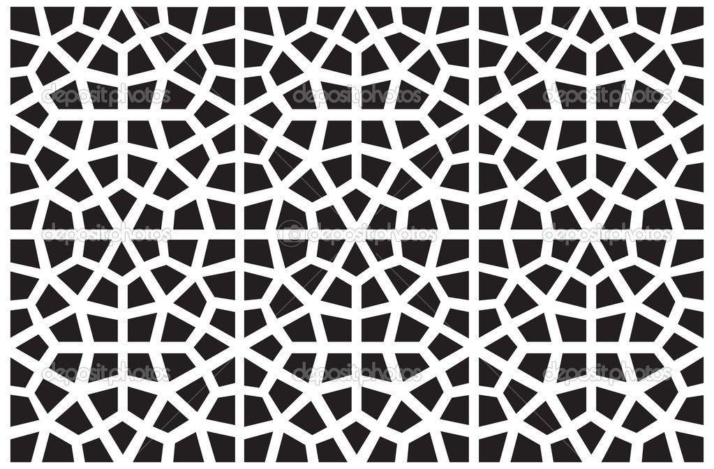Seamless vector symmetrical arabic islamic pattern.
