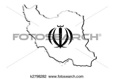 Clip Art of Islamic Republic of Iran k2798282.