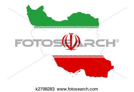 Drawing of Islamic Republic of Iran k2798283.