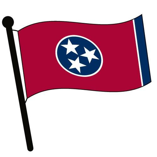 Tennessee State Flag Clipart.