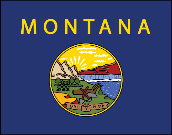 Montana State Flag Clipart.
