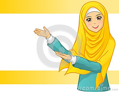 Muslim Woman With Veil Royalty Free Stock Photo.