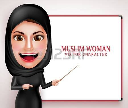 3,283 Muslim Woman Stock Vector Illustration And Royalty Free.