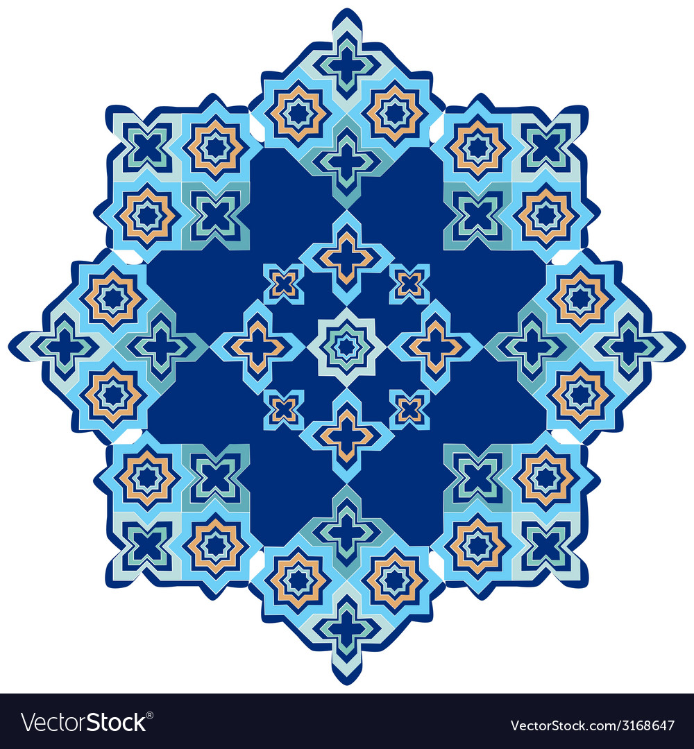 Circular islamic background.