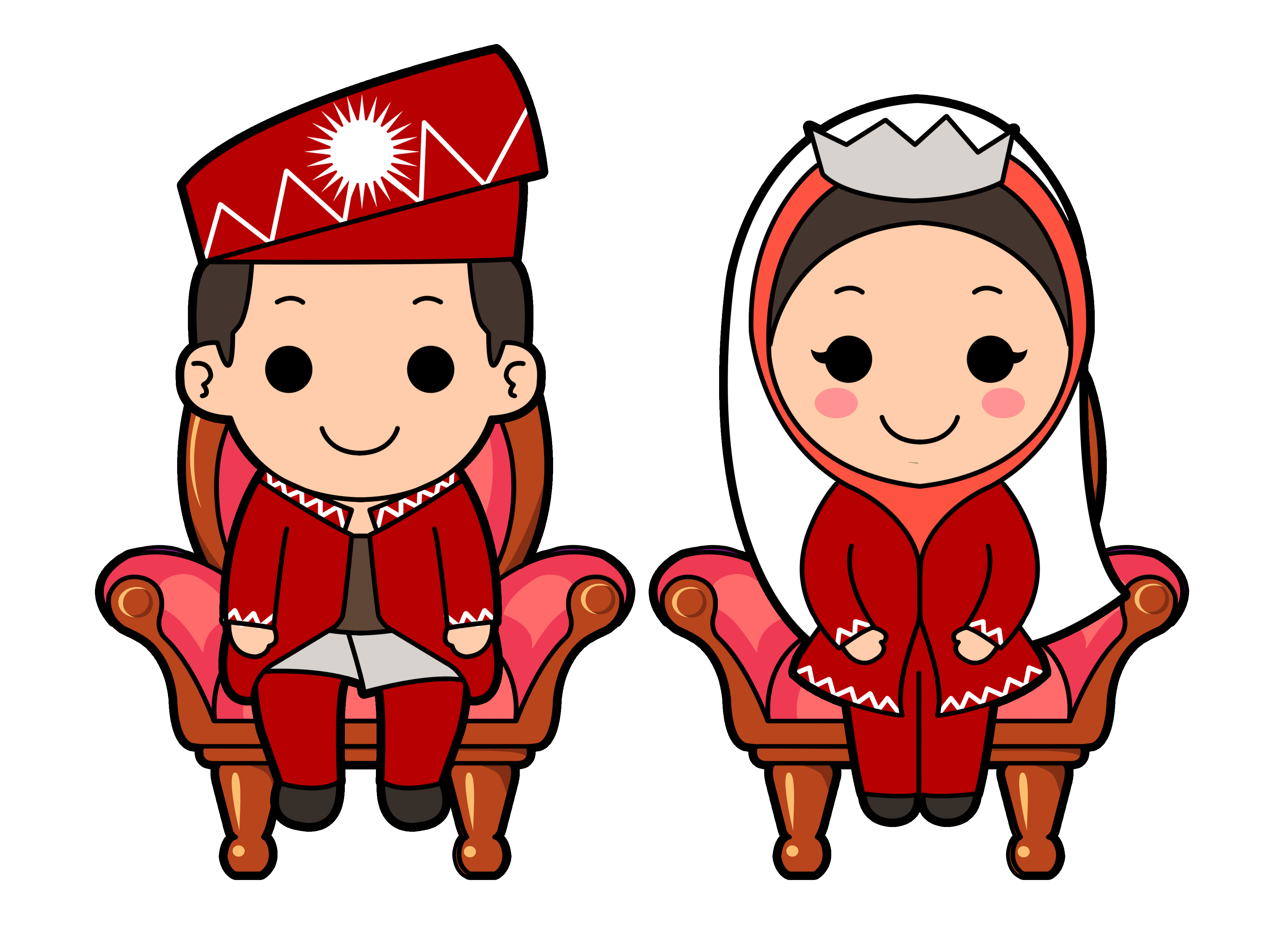 Muslim Wedding Cartoon.