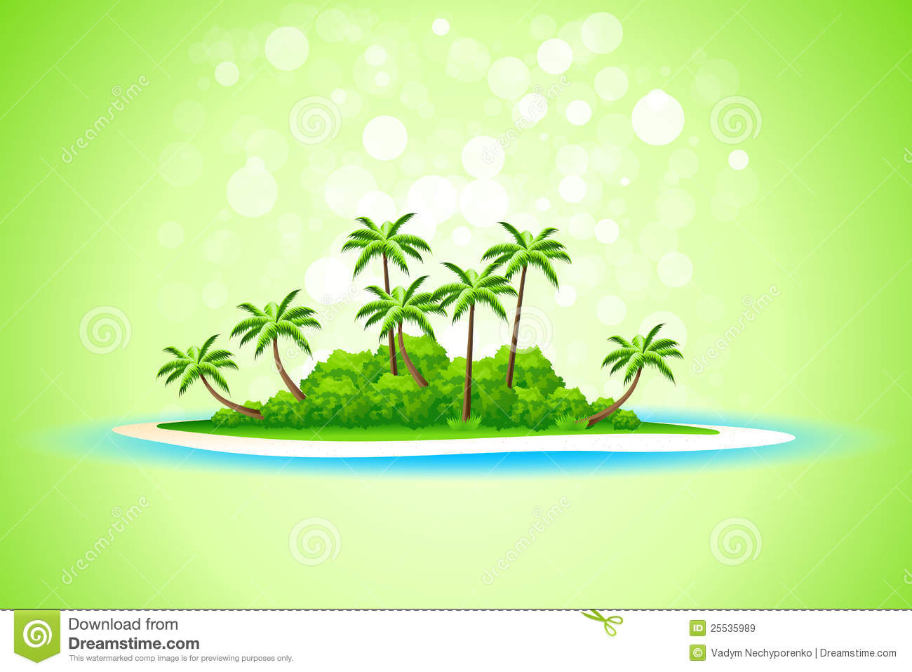Tropical Island Background Royalty Free Stock Images.