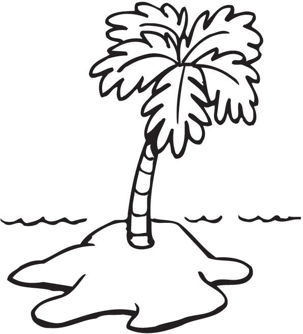 Free Island Clipart Black And White, Download Free Clip Art.
