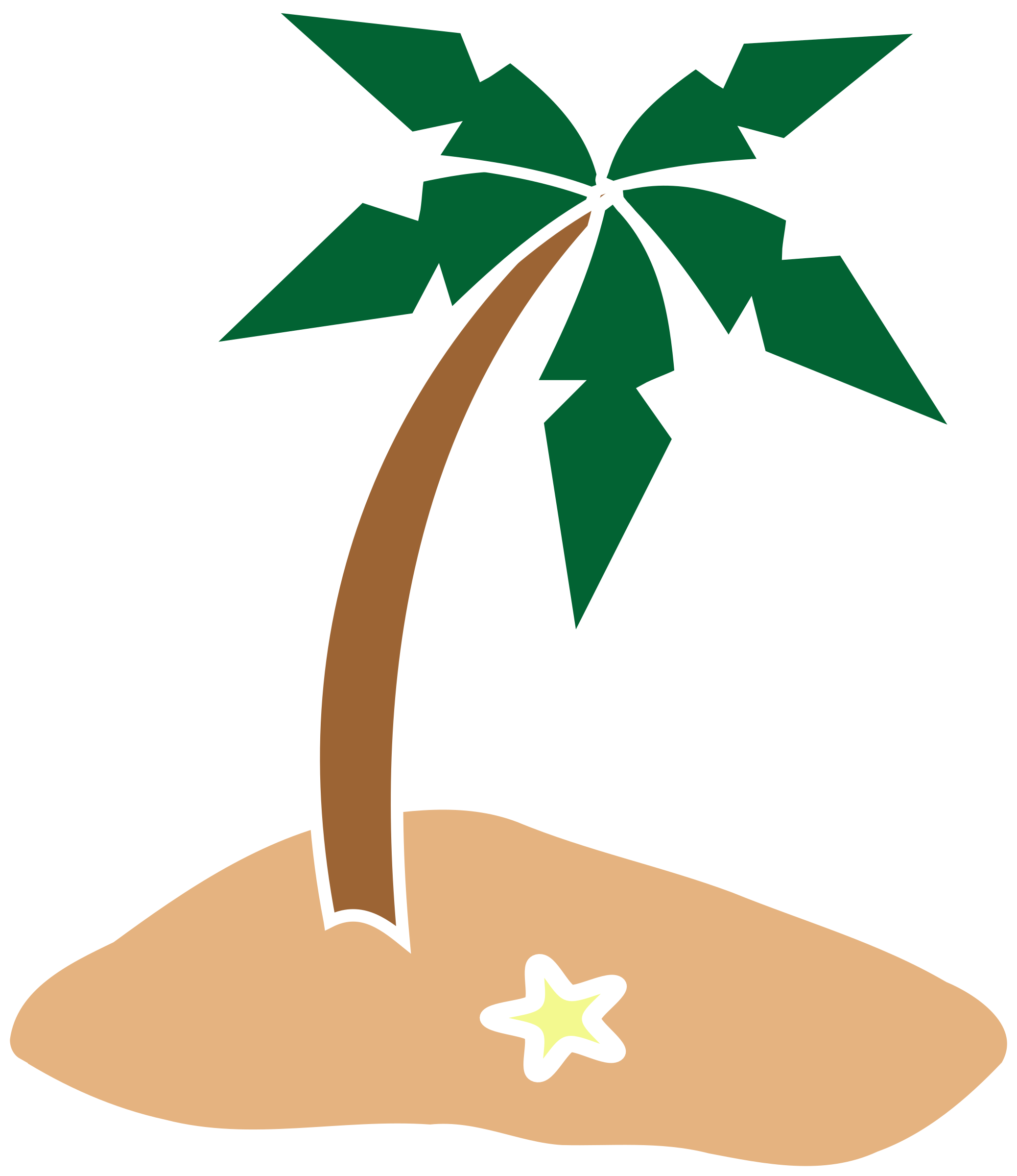 HD Banner Black And White Library Palm Tree Beach Clipart.