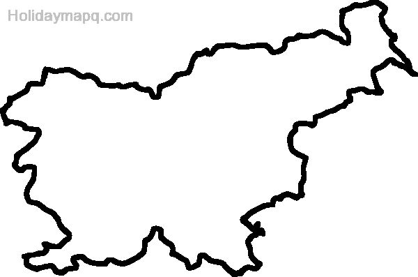 Free Map of slovenia.