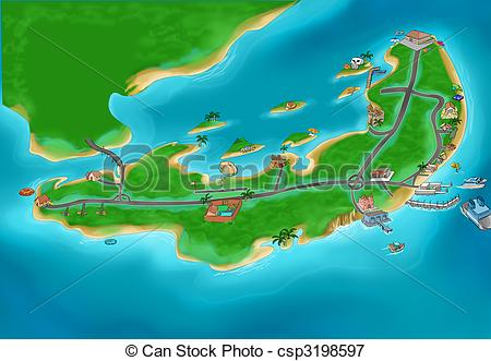 Island map Illustrations and Clipart. 26,509 Island map royalty.