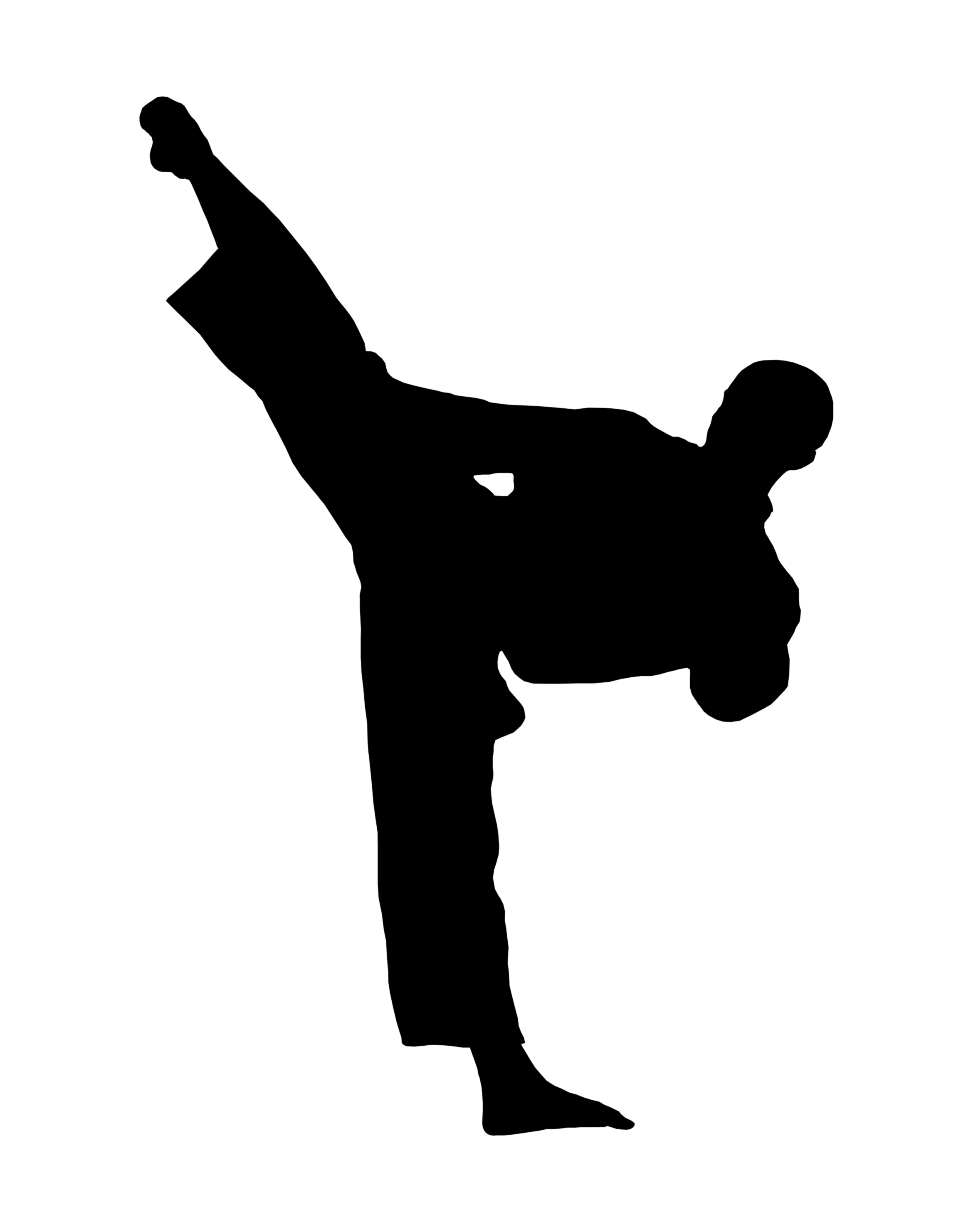 school teacher kickboxing clipart #8