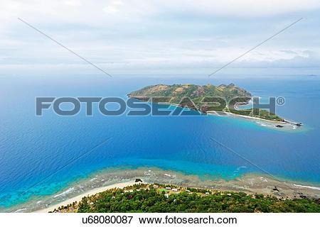 Picture of Aerial view of Kuata Island, Yasawa island group, Fiji.