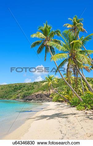 Stock Photography of Tropical beach, Yasawa Island Group, Fiji.