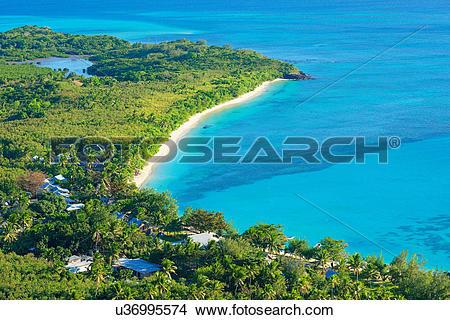 Stock Photo of Blue Lagoon, Nacula island, Yasawa island group.