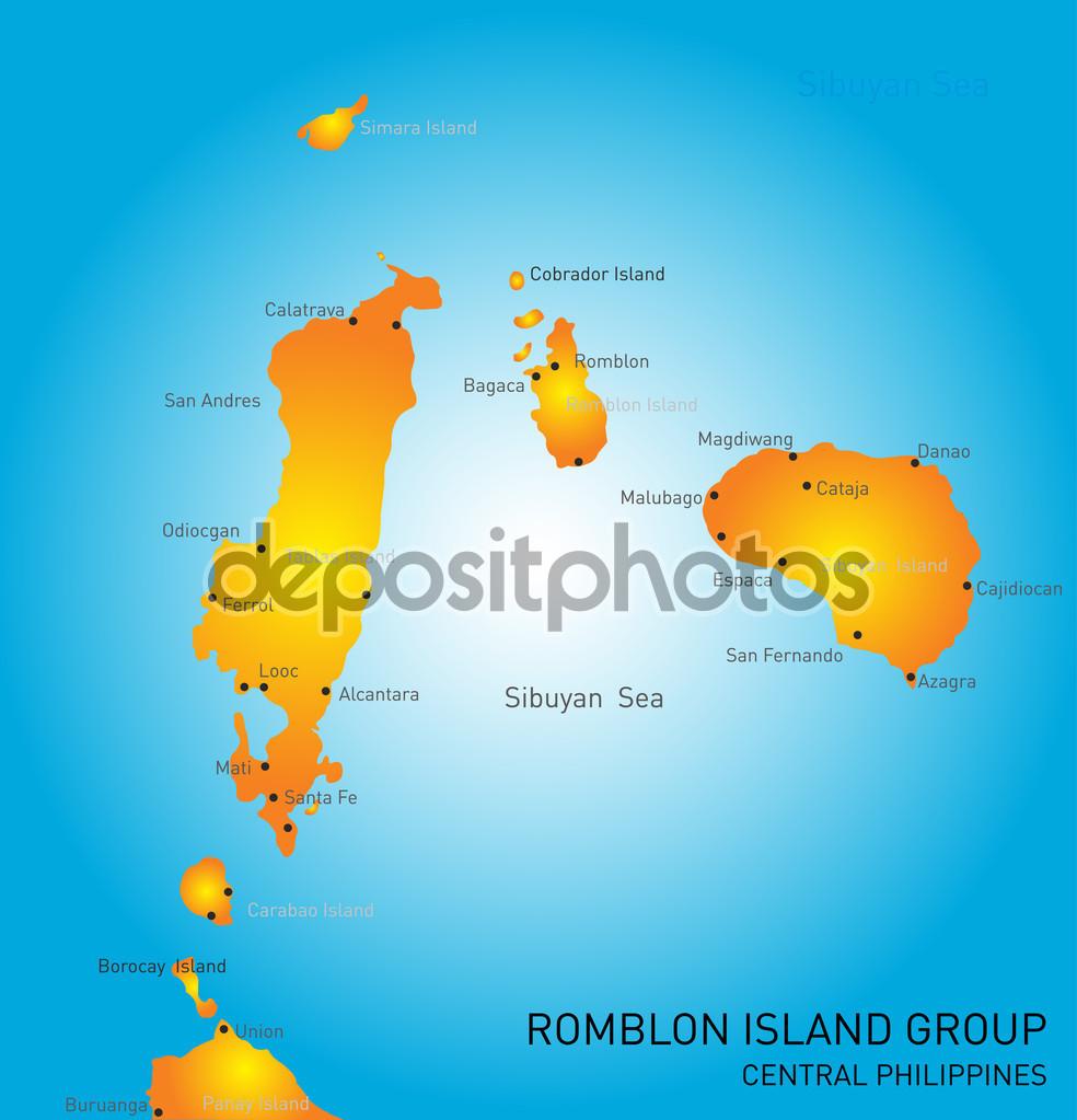 Romblon Island group — Stock Vector © olinchuk #53930291.