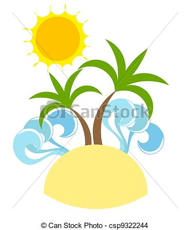 EPS Vector of Holiday island.