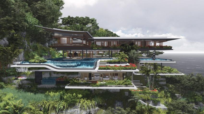 Island house clipart.