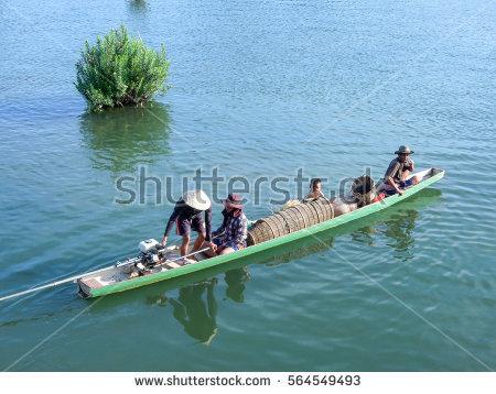 Mekong River Cruise Stock Photos, Royalty.
