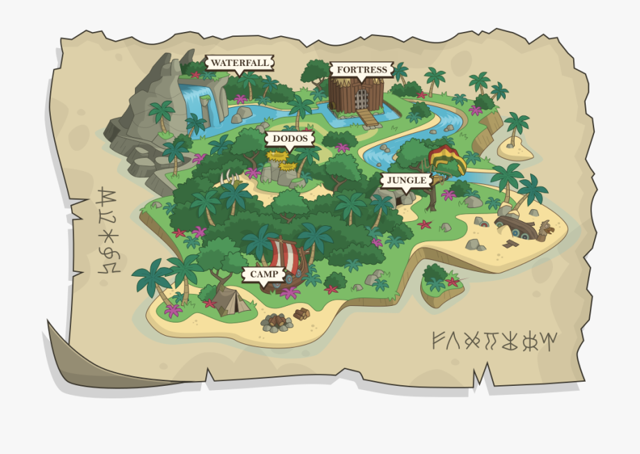 Island Map Clipart.