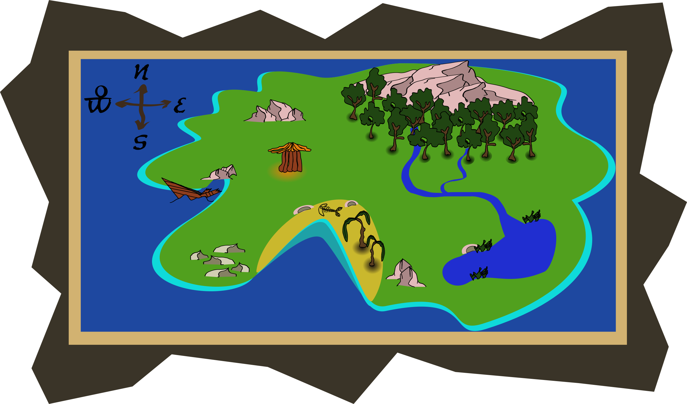 Maps clipart island map, Maps island map Transparent FREE.