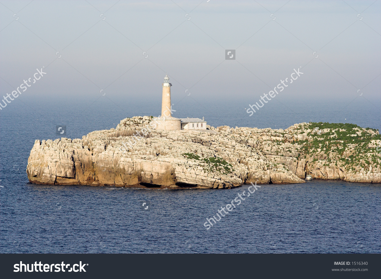 Lighthouse , Mouro Island Santander, Spain Stock Photo 1516340.