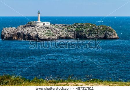 Cantabria House Cliffs Stock Photos, Royalty.