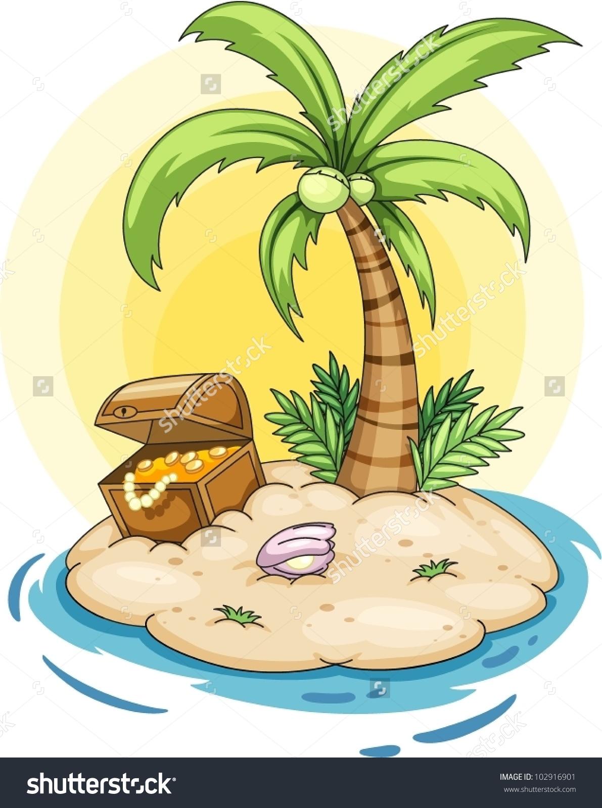 Free clipart treasure island.